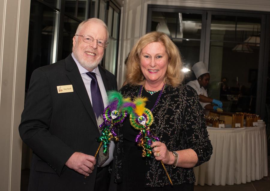 King & Queen of 5th Annual Voilà Mardi Gras Ball